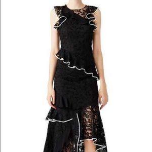 💥HP💥SACHIN & BABI BLACK LACE RUFFLE DRESS